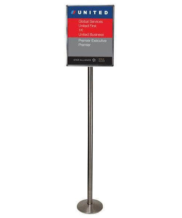 Visiontron 6 Feet Tall Sloped Base Sign Post