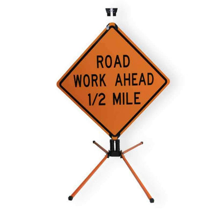 """SafeZone 12"""" Double Spring Traffic Sign Stand"""