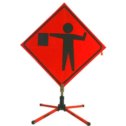 """SafeZone 18"""" Single Spring Traffic Sign Stand"""