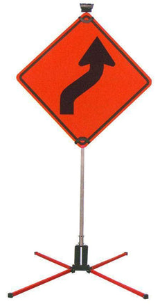 "SafeZone 60"" Double Spring Traffic Sign Stand"