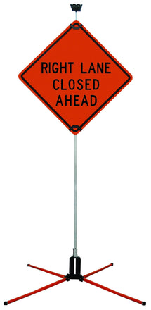 """SafeZone 84"""" Double Spring Traffic Sign Stand"""
