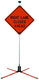 "SafeZone 84"" Double Spring Traffic Sign Stand"