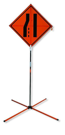 "SafeZone 84"" Springless Traffic Sign Stand"