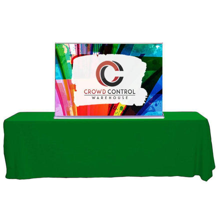 Premium Tabletop Retractable Banner with Custom Printed Graphic 60 In.