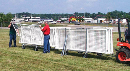 Transport and Storage Cart for SportPanel PVC Outfield Fence