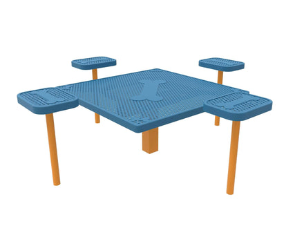 Square Dog Grooming Table with 4 Accessory Pads