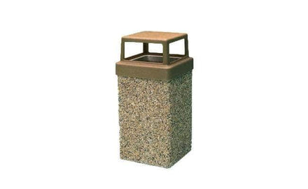 Concrete Waste Container with 4-way Lid - 7 Gallon Capacity