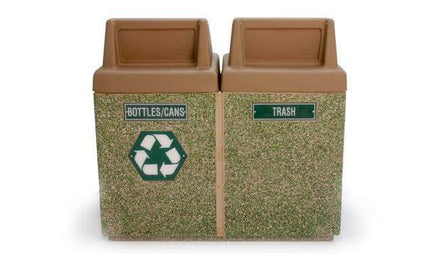 2-Bin Concrete Recycling/Trash Waste Container