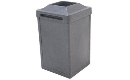Square Plastic Waste Container with Pitch In Lid - 22 Gallon Capacity