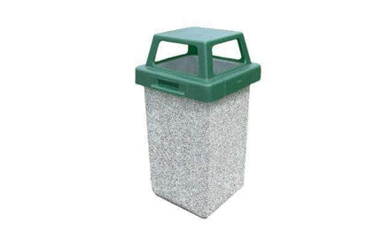 Concrete Waste Container with 4-way Lid - 30 Gallon Capacity
