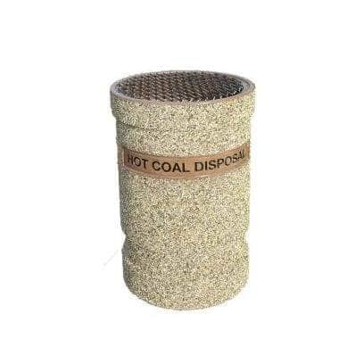 Hot Coal Disposal Container - 53 Gallon Capacity