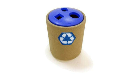 Concrete Waste Container with 3-Hole Plastic Recycle Top