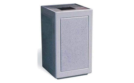 Modern Square ADA Accessible Waste Container with Aluminum Lid - 22 Gallon Capacity