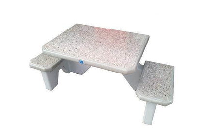 Two Bench ADA Accessible Square Concrete Picnic Table