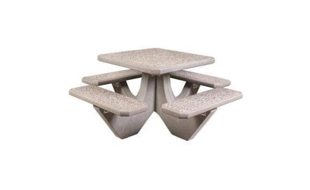 Four Bench Square Concrete Picnic Table