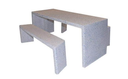 Rectangular Free Standing Concrete Picnic Table Set