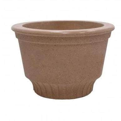 "Large Round Custrad Dish Concrete Planter - 30""x20"""