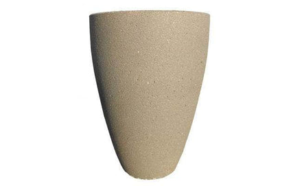 Tall Curved Concrete Planter - 30 in. x 42 in.