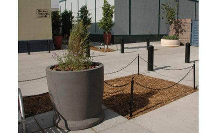 Large round tall outdoor concrete planter for sale
