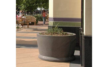 Large round outdoor concrete planter for sale