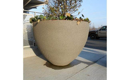 Large round outdoor concrete planters for sale