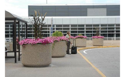 Large round concrete planter for sale perfect for security or landscaping