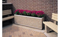 Large rectangular concrete planter perfect for security or landscaping