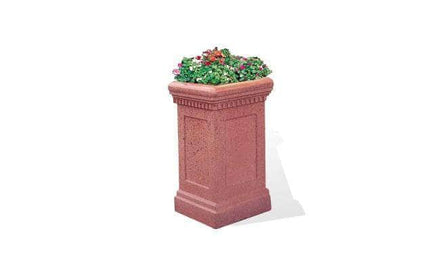 Colonial Series Tall Square Concrete Planter