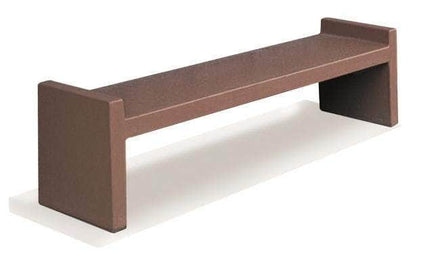 6 Ft Concrete Smooth Backless Park Bench