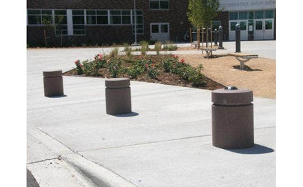 Short Cylindrical Bollard with Reveal Line