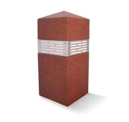 Rectangular Bollard with Built-In Lighting, excellent for security and high traffic areas