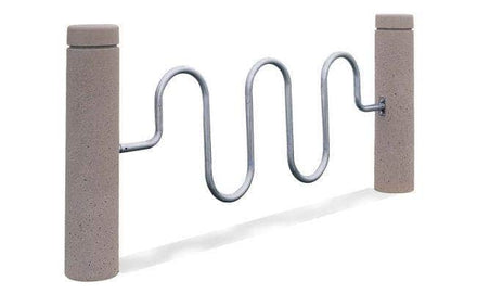 Concrete Bollard Metal Bike Rack for sale, perfect for security and convenience