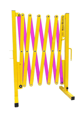 Radiation Safety Yellow and Magenta Versa-Guard Heavy Duty 11 Ft. Standard Length Expanding Barricade