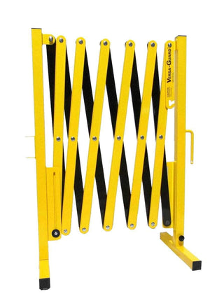 Safety Yellow and Black Versa-Guard Heavy Duty 11 Ft. Standard Length Expanding Barricade
