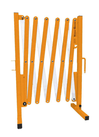 Safety Orange and White Versa-Guard Heavy Duty 11 Ft. Standard Length Expanding Barricade