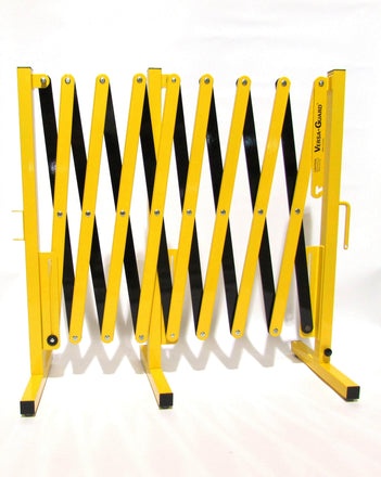 Safety Yellow and Black Versa-Guard Heavy Duty 15 Ft. Extra Length Expanding Barricade