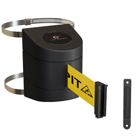 CCW Series WMB-230 Clamp Wall Mount With Black ABS Case - 20, 25, and 30 Ft. Belts