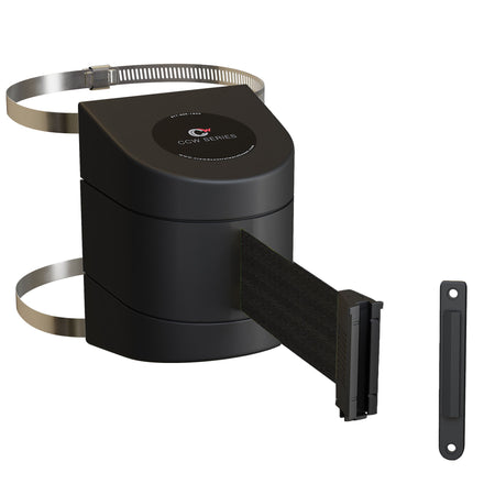 CCW Series WMB-220 Clamp Wall Mount With Black ABS Case - 10, 13, and 15 Ft. Belts