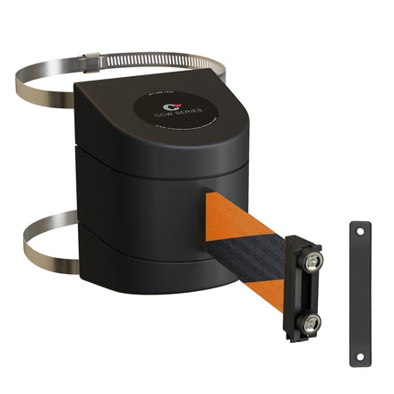 CCW Series WMB-230 Clamp Wall Mount With Black Magnetic ABS Case - 20, 25, and 30 Ft. Belts