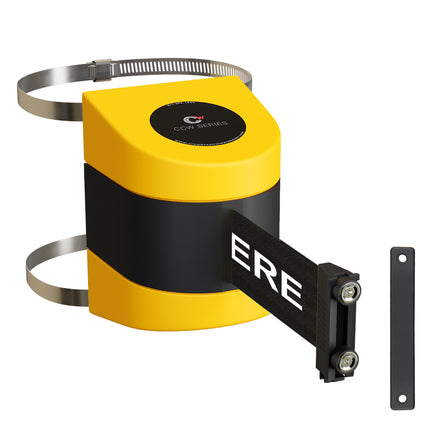 CCW Series WMB-220 Clamp Wall Mount With Yellow Magnetic ABS Case - 10, 13, and 15 Ft. Belts