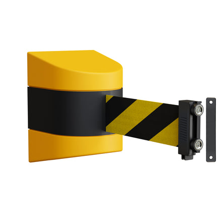 WMX 140 Safety Wall Mounted Fixed or Magnetic Wall Mount Belt Barrier - 8.5 Ft. Belt
