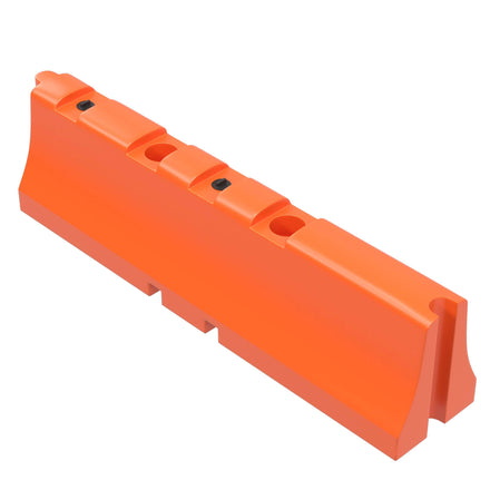 "Orange Water/Sand Fillable Traffic Barrier - 31"" H x 120"" L x 24"" W"