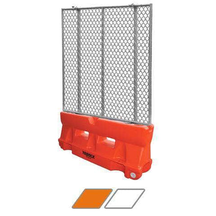 Yodock 2001MB Water/Sand Fillable Roadway Barrier with Fencing Option - 32 in. H x 72 in. L x 18 in. W