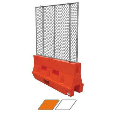 Yodock 2001M Water/Sand Fillable Jersey Barrier with Fencing Option - 32 in. H x 72 in. L x 18 in. W, 75 lbs