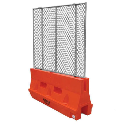 Yodock Orange Jersey Barrier with Optional Chain link Fencing for sale