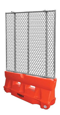 Orange Yodock 2001MB with optional chain link fence