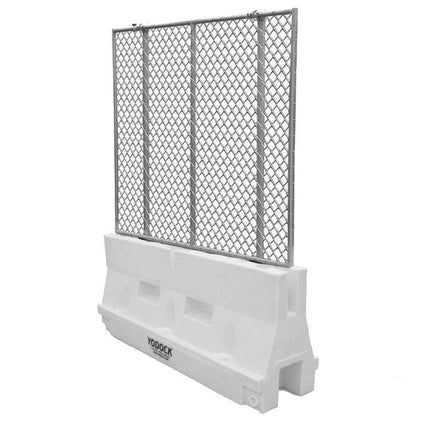Yodock White Jersey Barrier with Optional Chain link Fencing for sale