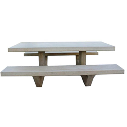 Rectangle Cement Picnic Table
