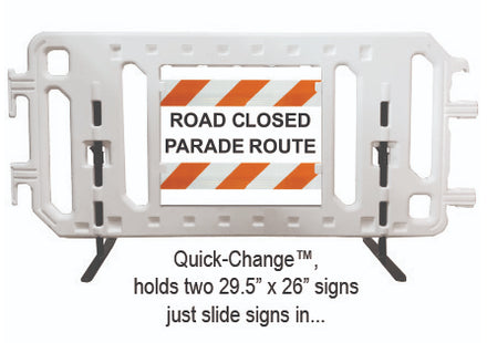 CrowdCade Deluxe Plastic Barricade Sign Frame Features