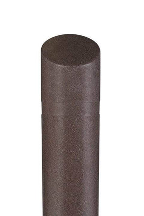 Decorative Slant Top Bollard Cover - Brown Granite
